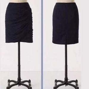 Anthropologie Coquille Surging Springs Skirt Navy